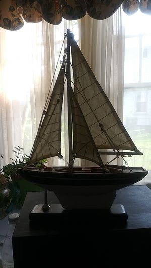 Beautiful handmade detailed sailboat decoration for Sale in Raleigh, NC