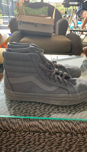 Vans high tops - charcoal gray for Sale in Palm Beach Gardens, FL