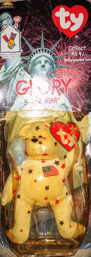 Ty Glory the Bear McDonald's Promotional Teenie Beanie Babies International Bear Series is in its Original, Sealed Package for Sale in Tampa, FL