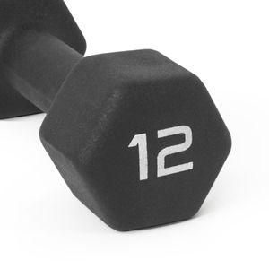 Title: CAP Barbell Black Neoprene Dumbbell , Single 12 lbs Set of 2 for Sale in Houston, TX