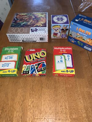 PUZZLES & MATH GAME ARE NEW!!! for Sale in Parma, OH