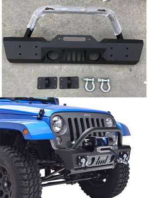2007-2018 Jeep Wrangler JK Stubby Front Bumper OE Fog Light Off Road Auto Parts for Sale in El Monte, CA
