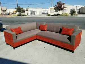 NEW 7X9FT ANNAPOLIS LIGHT GREY FABRIC SECTIONAL COUCHES for Sale in Cathedral City, CA