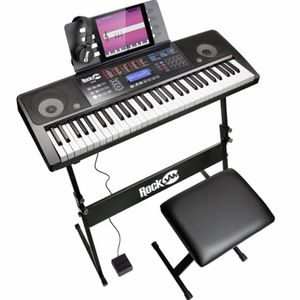 RockJam RJ761 Electric Keyboard (Stand, Chair + Pedal Included!) for Sale in Seattle, WA