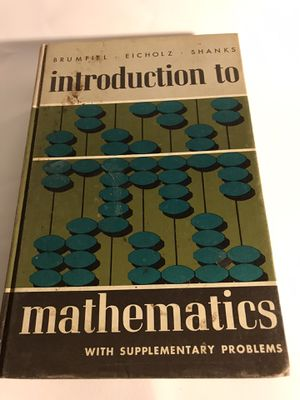 1965 Introduction to Mathematics- Brumfiel Eicholz Shanks for Sale in San Francisco, CA