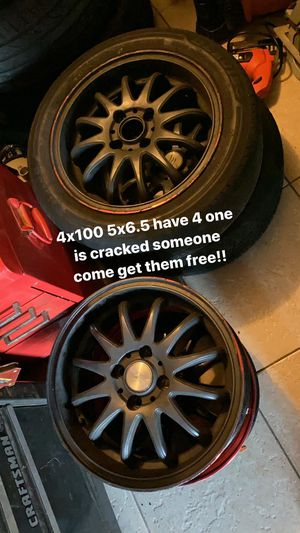 4x100 wheels FREE for Sale in Hollywood, FL