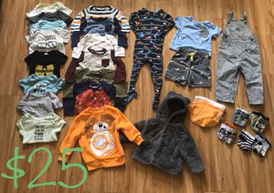 Baby and Toddler Clothes Onesies Pajamas Bibs Disney Socks Sweater Jacket BUNDLE for Sale in Plantation, FL
