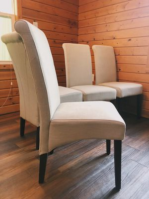 NEW! 4 Dining Chairs - Tan / Beige - Upholstered Parson Chairs for Sale in Bolingbrook, IL