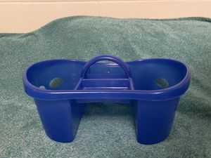 Blue shower caddy (anti-microbial) for Sale in Ithaca, NY
