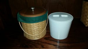 Longaberger ice bucket with insert for Sale in Arlington, TX