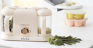 BEABA Babycook Plus Limited Edition, 4 in 1 Steam Cooker and Blender, 9.4 Cups, Dishwasher Safe, Rose Gold for Sale in Calabasas, CA