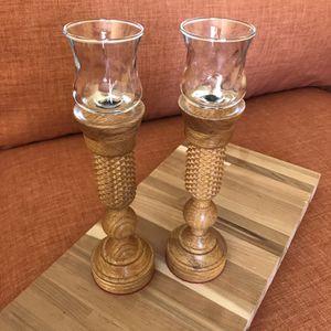Vintage wood candle holders for Sale in Las Vegas, NV