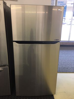 Brand New LG Top Freezer Refrigerador Stainless Steel With Warranty No Credit Needed for Sale in Garland, TX