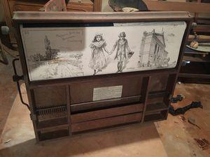 Antique Learning Desk Map w/Chalkboard Scroll for Sale in Chamblee, GA