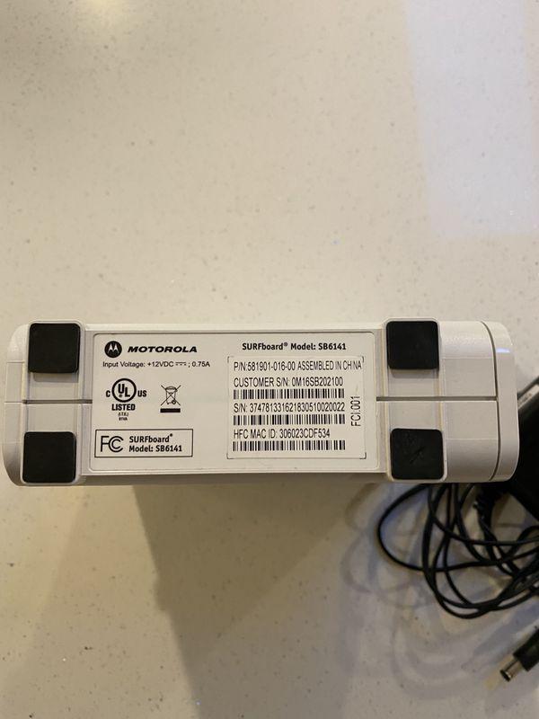 Motorala SB6141 Modem Comcast