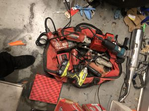 Bag full of power tools for Sale in Moreno Valley, CA
