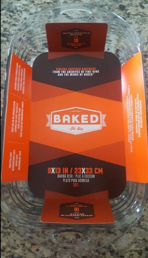 New! Baked 9 x 13 Glass Baking Dish for Sale in Moreno Valley, CA