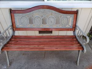 Recondition Innova cast iron bench with new oak/hardwood. for Sale in Stockton, CA