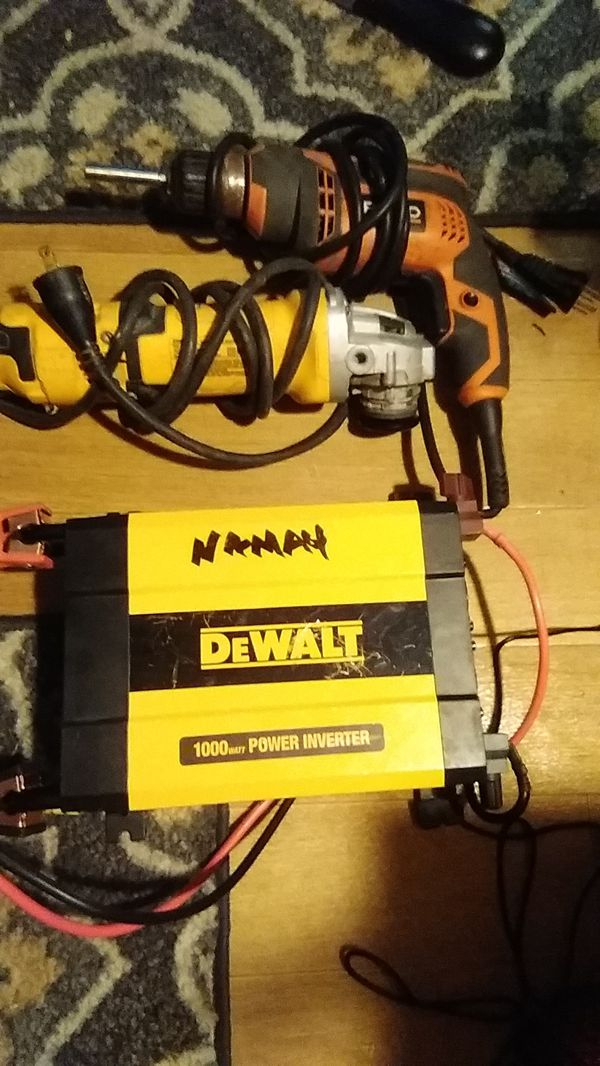 DeWalt corded angle grinder and Ridgid coreded drill both for 60.00 cash and a DeWalt power inverter 1000w 40 cash I'll take 85 for 3 or 40 a piece
