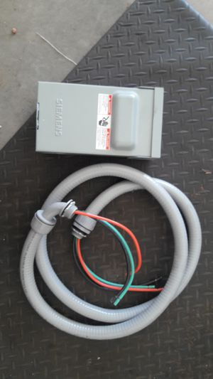 60amp disconnect and whip for ac for Sale in Phoenix, AZ