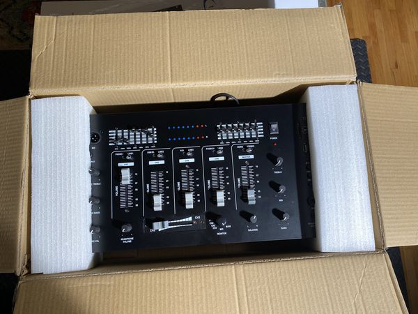 Technical Pro DJ5U Professional 4 Channel Mixer with USB - SD Card Inputs