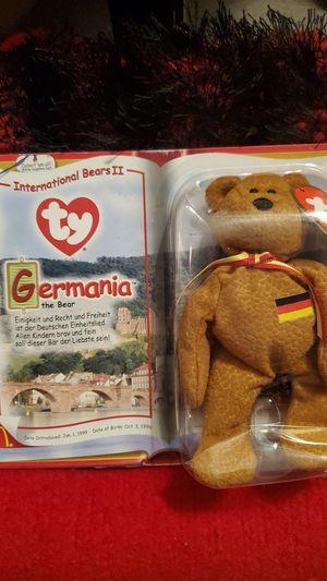 TY McDonald's Teenie Beanie - GERMANIA the Bear (2000) (5 inch) - In Package for Sale in Salt Lake City, UT