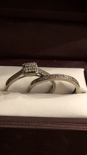 Daniels Jewelry White Gold with Diamond's engagement wedding ring and band signature collection for Sale in Los Angeles, CA
