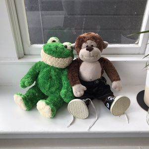 Build-A-Bear Workshop Stuffed Frog + Monkey (with Shoes + Pants) for Sale in San Francisco, CA