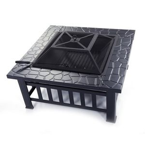 "32"" Outdoor Square Fire Pit Barbecue Gathering Party Picnic Yard Garden Pool Side for Sale in Los Angeles, CA"