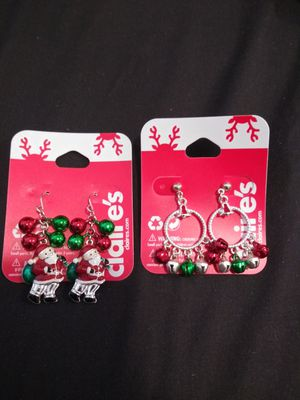 Claire's christmas earrings NWT for Sale in Tampa, FL