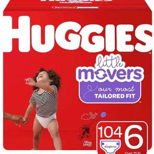 Huggies Little Movers Size 6 Diapers/pañales for Sale in Downey, CA
