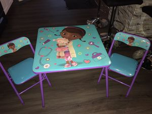 Doc Mcstuffin's Kids Table & Chair set for Sale in Medina, OH