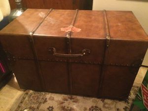 Very nice metal and cedar trunk for Sale in Benzonia, MI