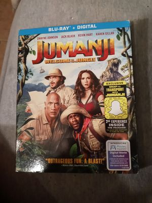Jumanji-Welcome to the Jungle (Blu Ray+Digital) for Sale in Union Mills, IN