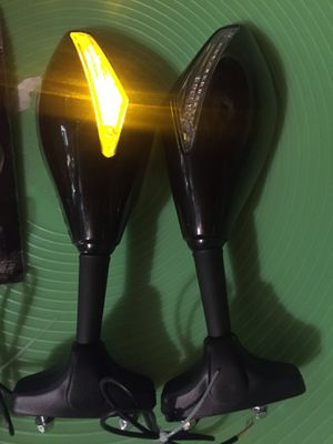Side mirror with led signals and rear signals for Kawasaki or ninja motorcycle for Sale in Los Angeles, CA