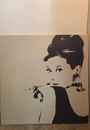 Large Audrey Hepburn canvas print for Sale in Redwood City, CA