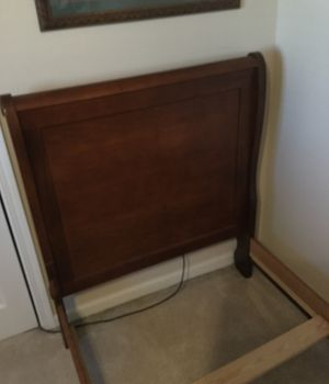 Twin size bed Maple sleigh bed $ 50.00 for Sale in Normal, IL