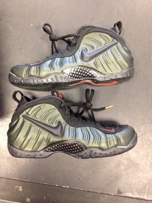 c009c80c1f0a7 Foamposite sequoia men s size 11 Nike shoes green black new in box for Sale  in Ocala