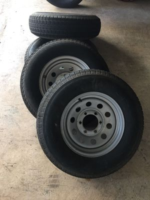 """Trailer wheels and tires 15"""" for Sale in Pearland, TX"""