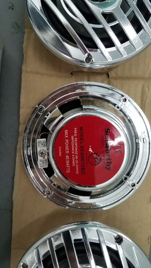 Waterproof 40 watt chrome speakers for Sale in Milpitas, CA
