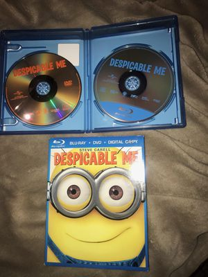 Despicable me minions movie includes both the DVD and Blu-ray) plus slip cover . Great used condition. Works perfect . J for Sale in Westford, MA