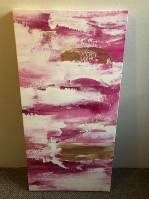 2X4 ft pink and gold abstract canvas art for Sale in Seattle, WA