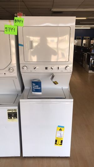 XL capacity stackable washer n dryer. Never used. NOW: $849.. was $1300... take t home for $50 down with our no credit check interest free financing for Sale in Bellaire, TX