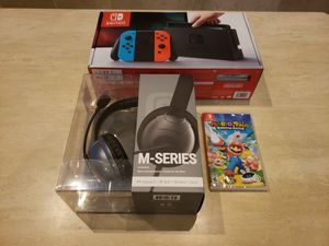 Nintendo Switch with Smash Bros, Mario+Rabbids, and Headset $399 for Sale in San Diego, CA