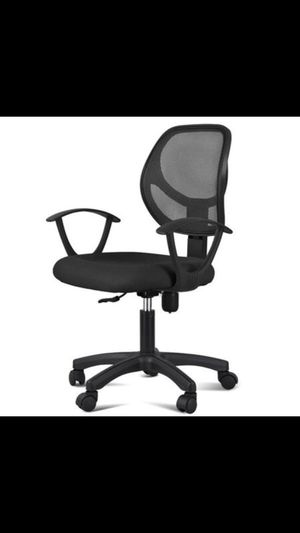 Adjustable Swivel Computer Desk Chair Fabric Mesh Office Chair with Arms Seating Back for Sale in Houston, TX