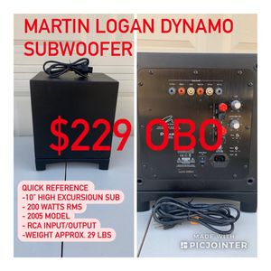 Martin Logan Dynamo Subwoofer for Sale in Fresno, CA