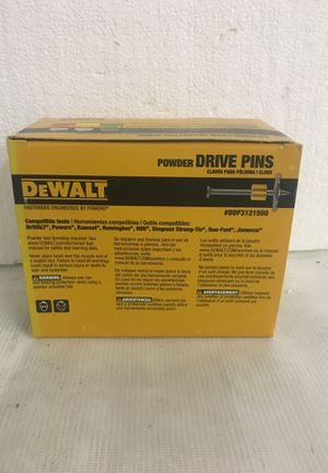 """Dewalt powder drive pins for pressure treated 2x4 to block, concrete, hard concrete, 2-1/2"""" length, 1"""" washer, DDF3121550 quantity 100 per box for Sale in Hollywood, FL"""