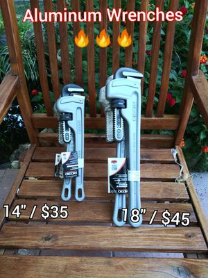RIDGID Aluminum Wrenches 💪 NEW _________PRICES EACH for Sale in San Bernardino, CA