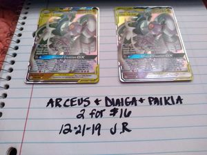 Pokemon: ARCEUS, DIALGA, PALKIA TAG TEAM for Sale in Festus, MO