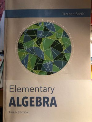 Elementary Algebra Book for Sale in Los Angeles, CA